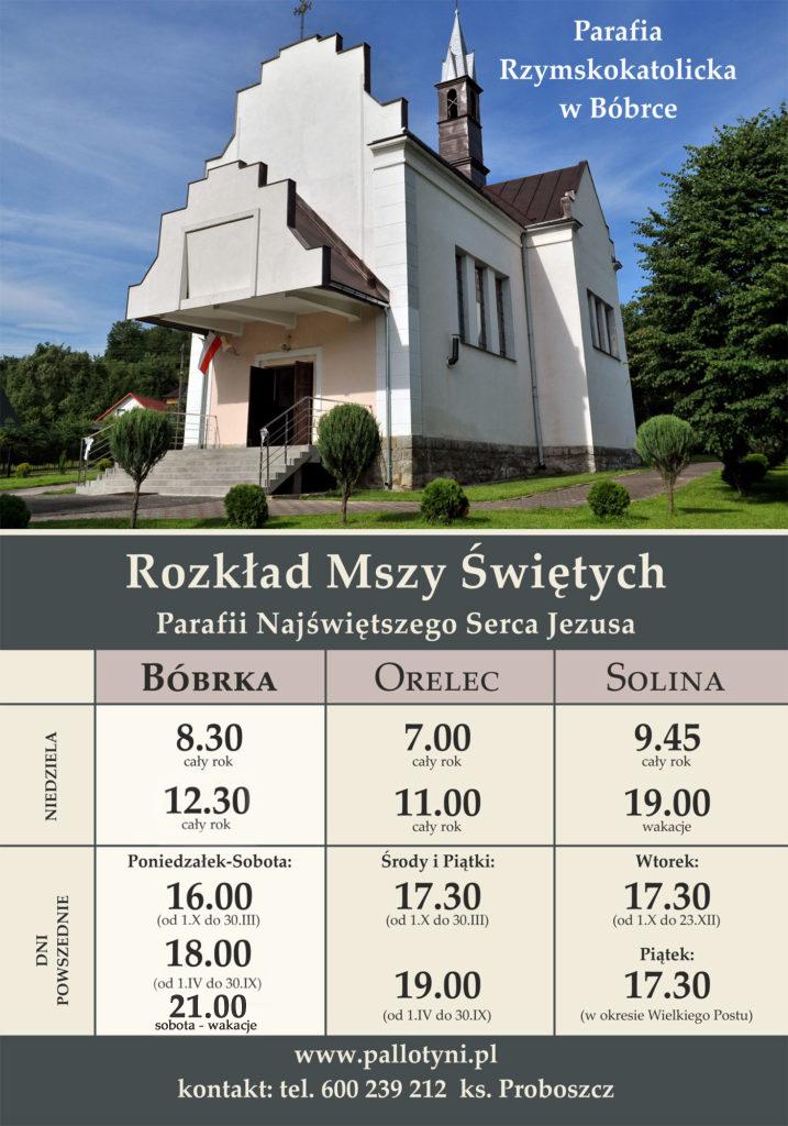 Msze święte - parafia Bóbrka k. Soliny